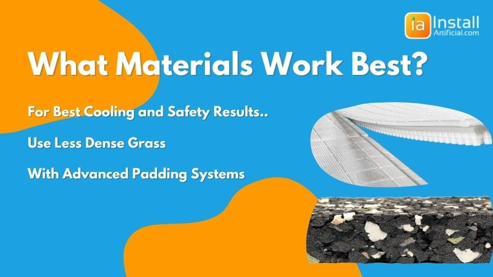 what materials work best for installing artificial grass on playgrounds