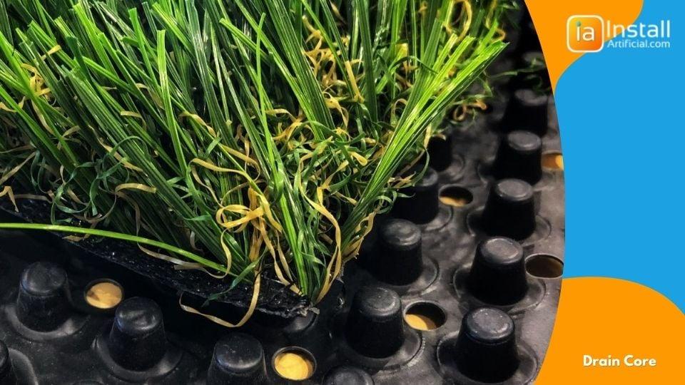 Drain Core Pet Turf Material For Backyard Dog-Friendly Artificial Grass Installation