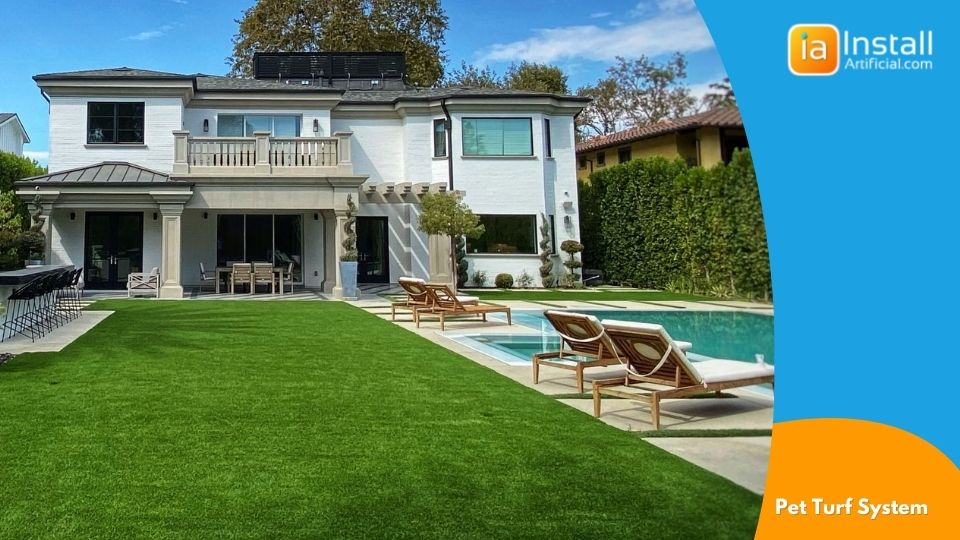 pet turf installation in backyard for dogs