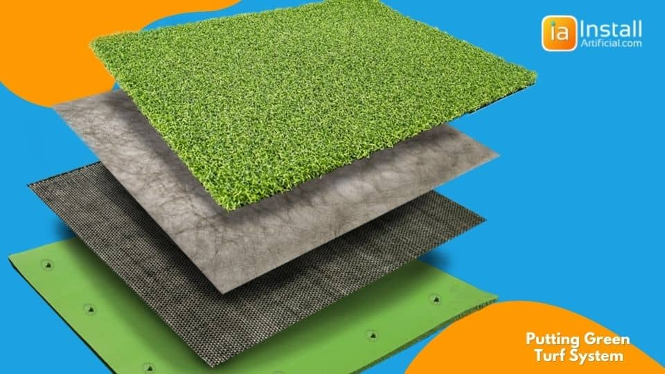 putting green turf system quality materials for installation