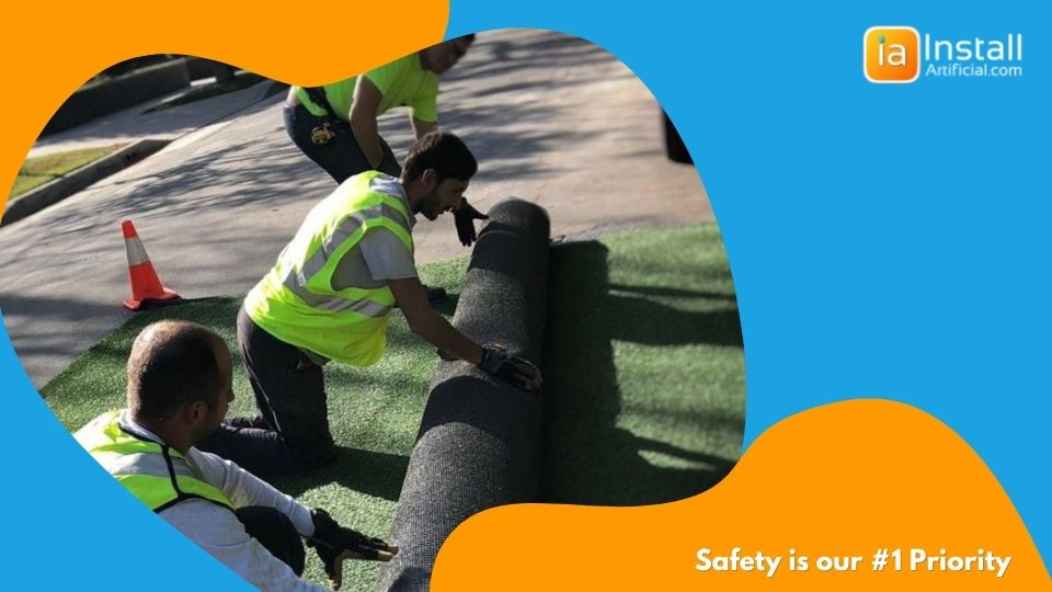 artificial grass installation safety priority