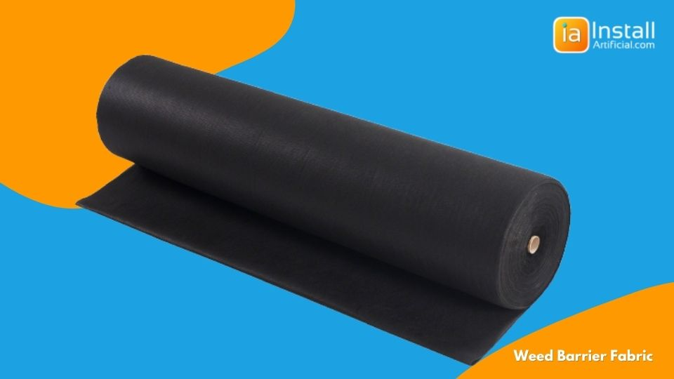 weed barrier fabric for base preparation during artificial grass installation in backyards