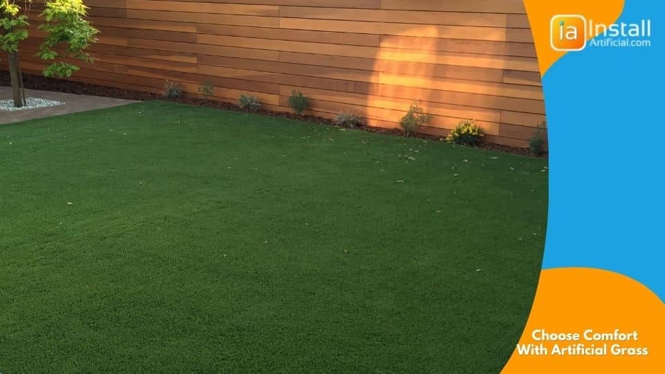 choose comfort with artificial grass installation in your backyard or front yard