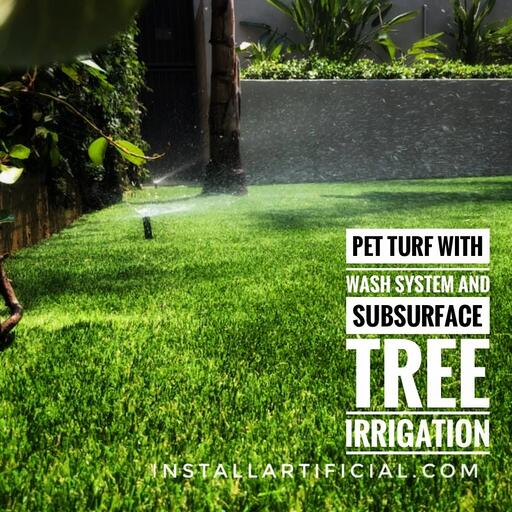 K9 pet turf wash system in action
