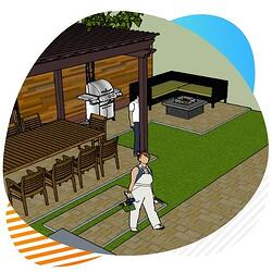 Design renovation artificial grass installation