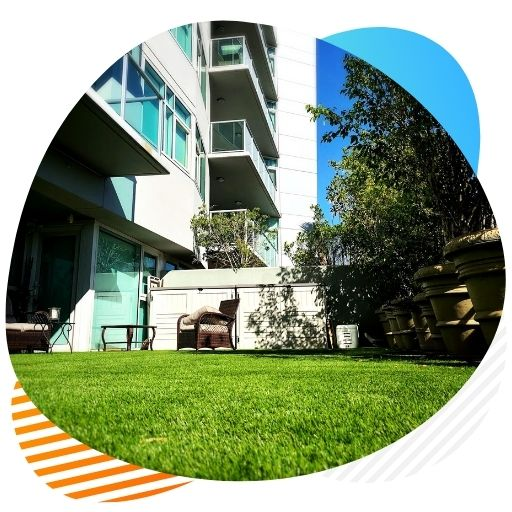 patios balconies artificial grass installation