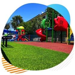 playgrounds artificial grass installation