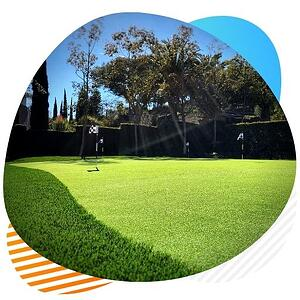 putting greens artificial grass installation