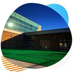 sports gyms artificial turf installation
