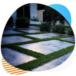 stripes artificial grass installation