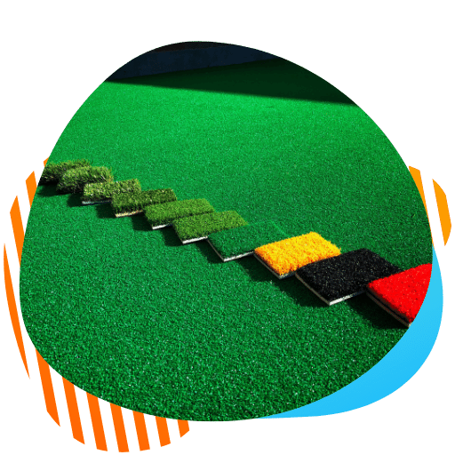 artificial turf padded exercise area