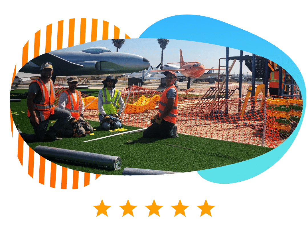 artificial turf playground installers los angeles