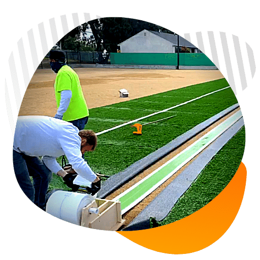 artificial turf sports filed construction