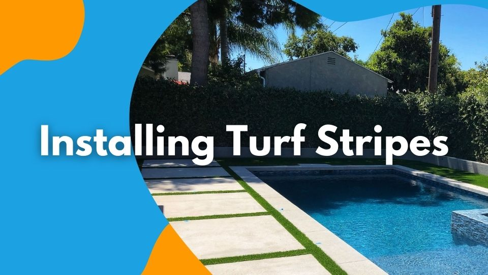 installing turf stripes