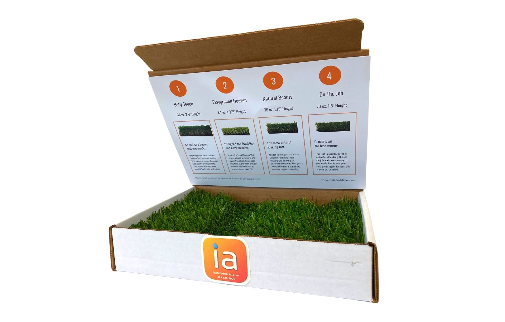 Artificial turf sample box InstallArtificial-smallest