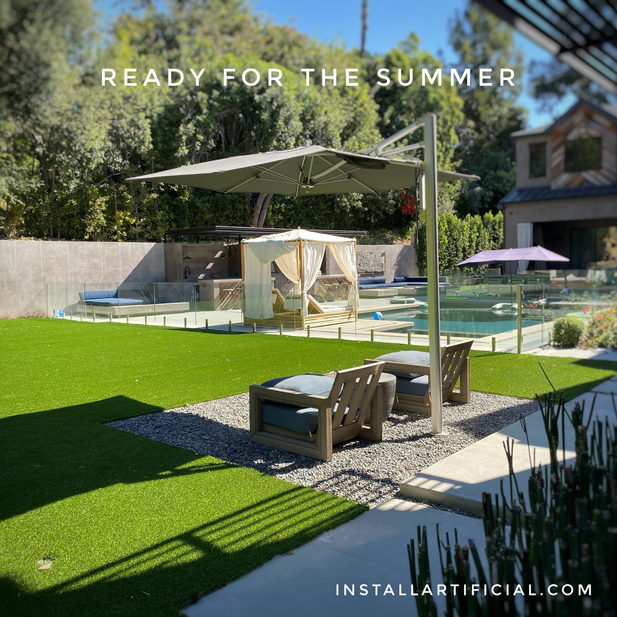 backyard renovation project with pet turf system