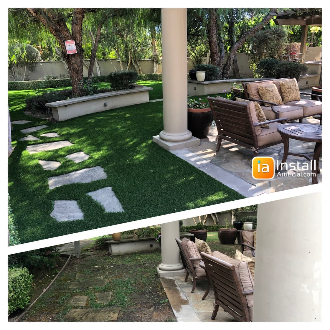 patio renovation with artificial grass Pasadena Sierra Madre