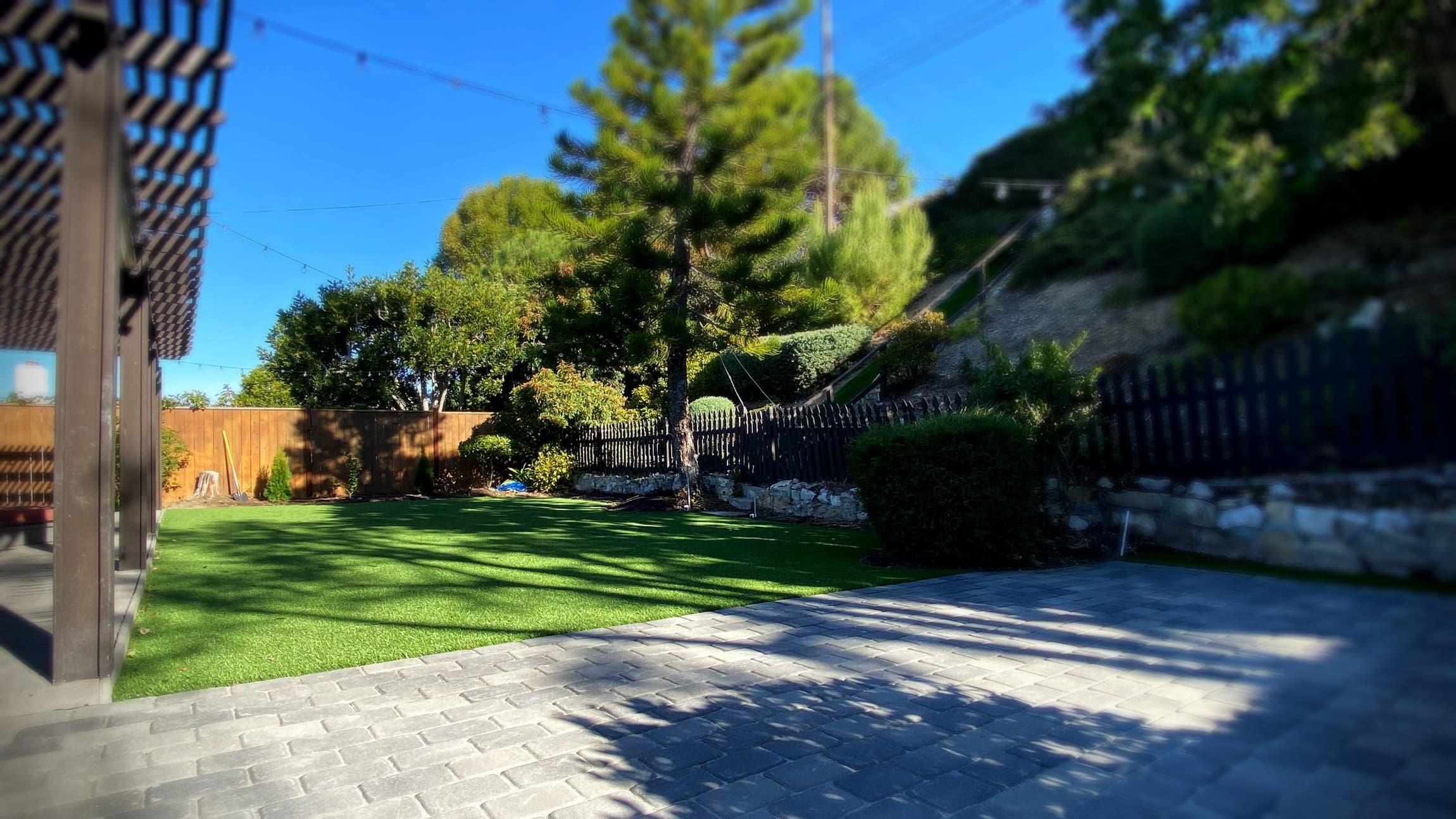 turf and pavers
