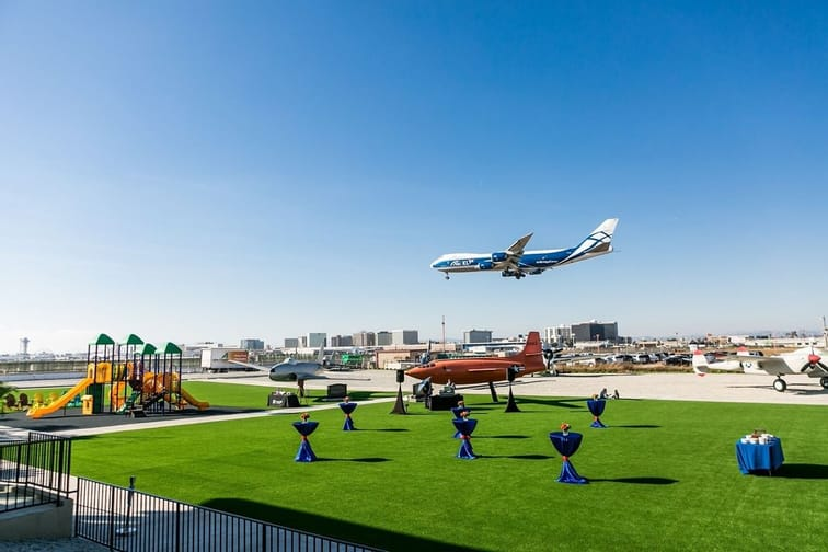 lax artificial grass instlalled at large area