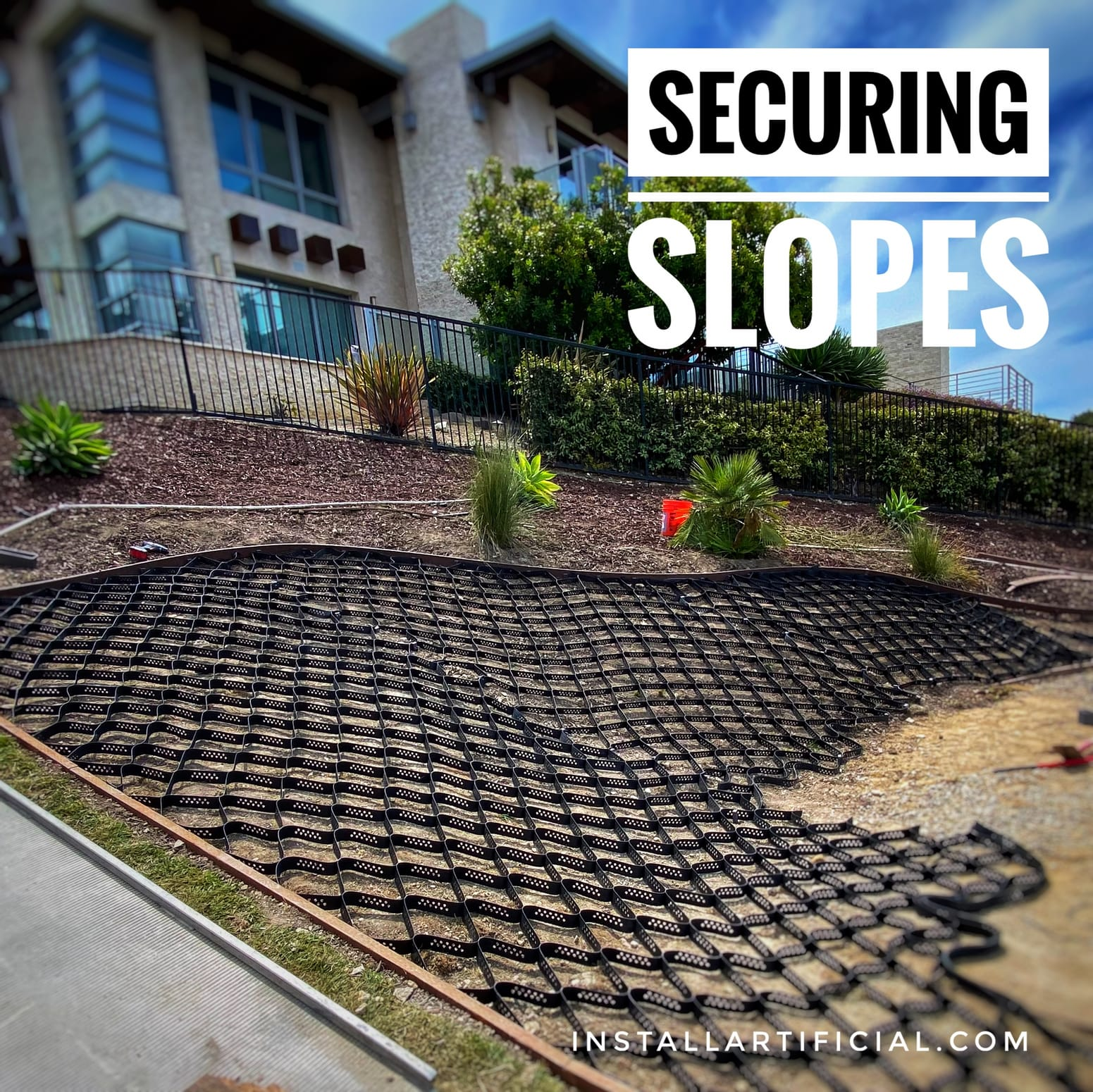 slope retaining membrane