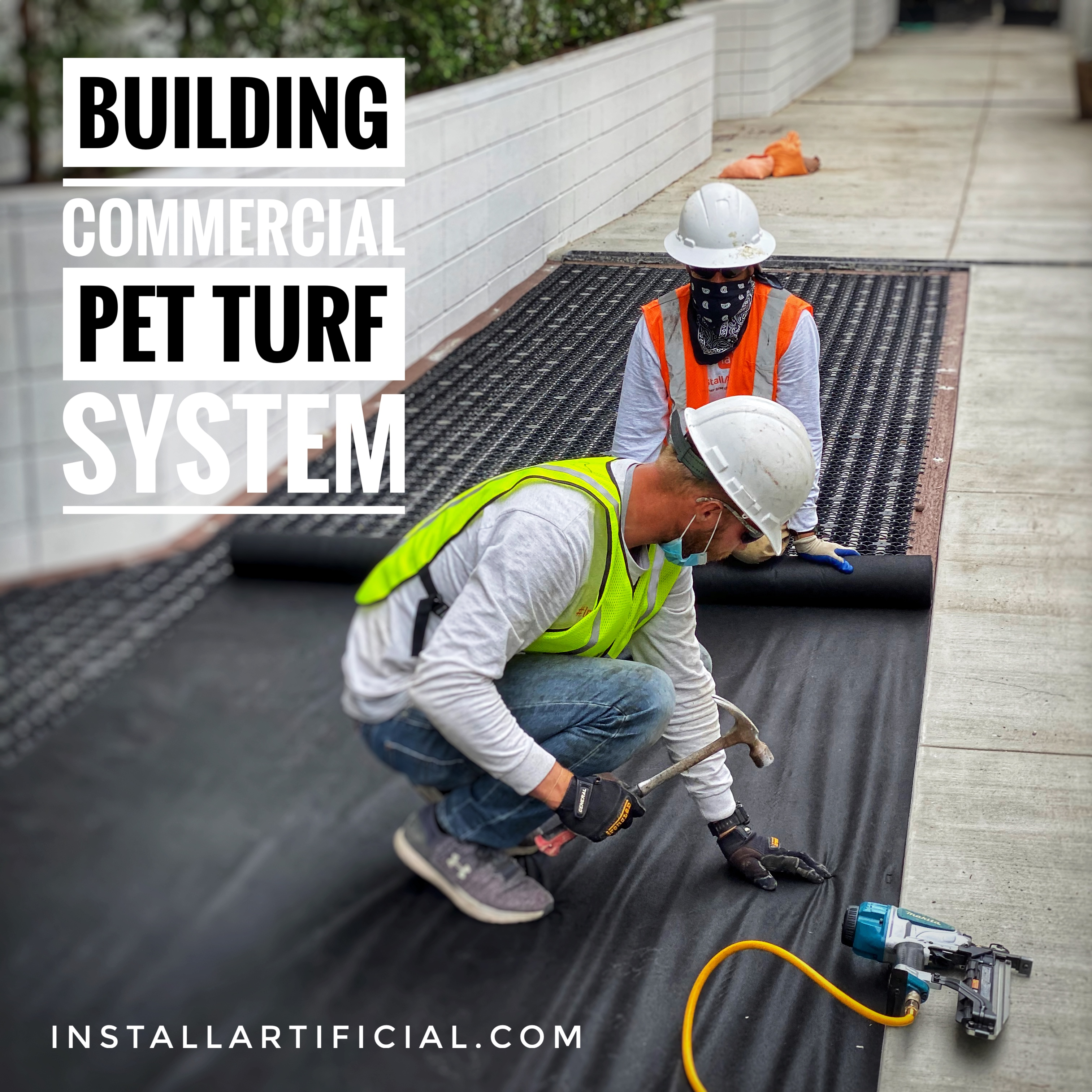 commercial k9 pet turf system installation
