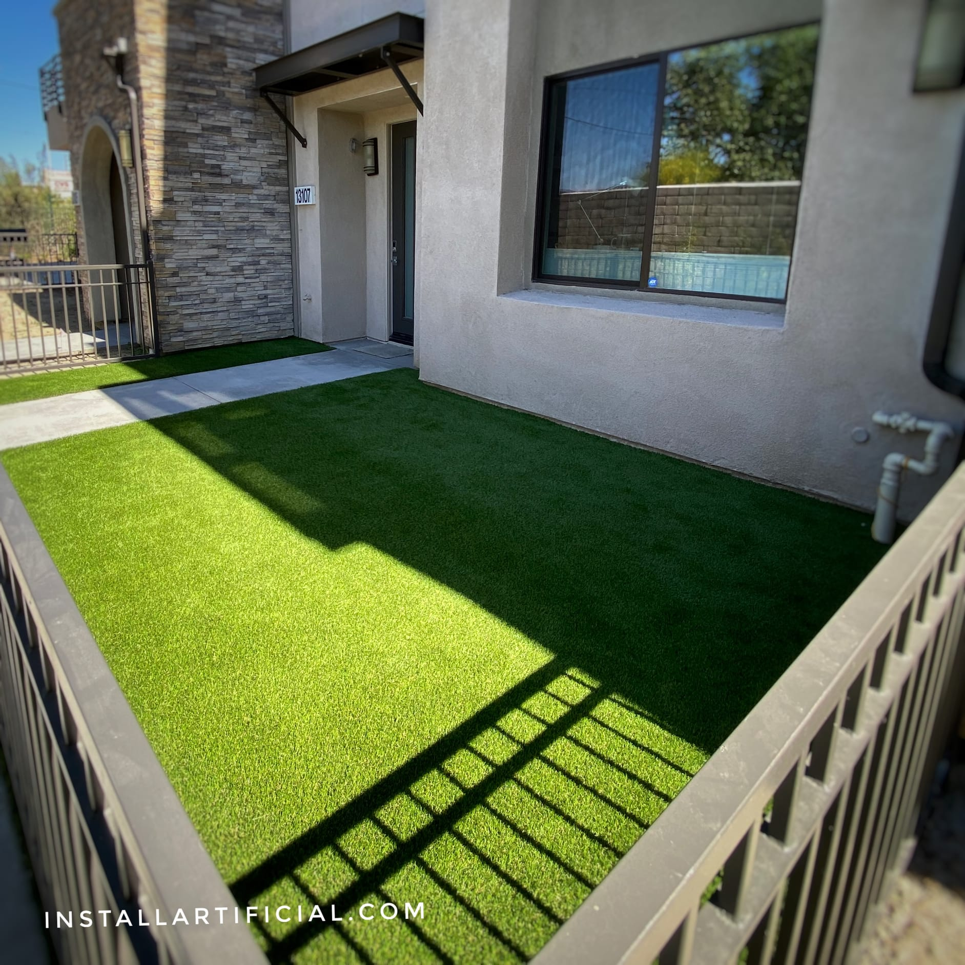 small backyard pet turf dog run