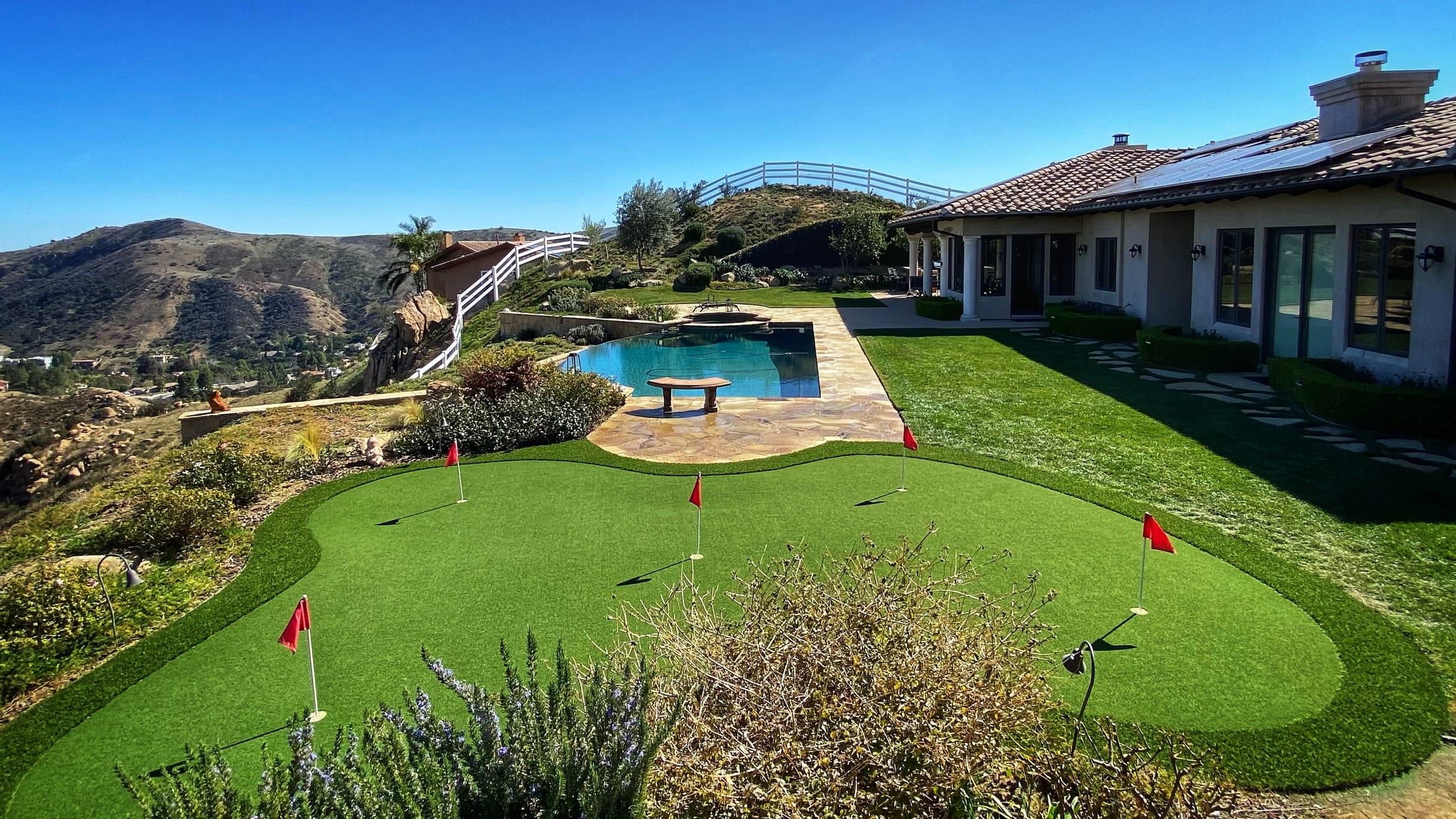 putting green hillside view-1
