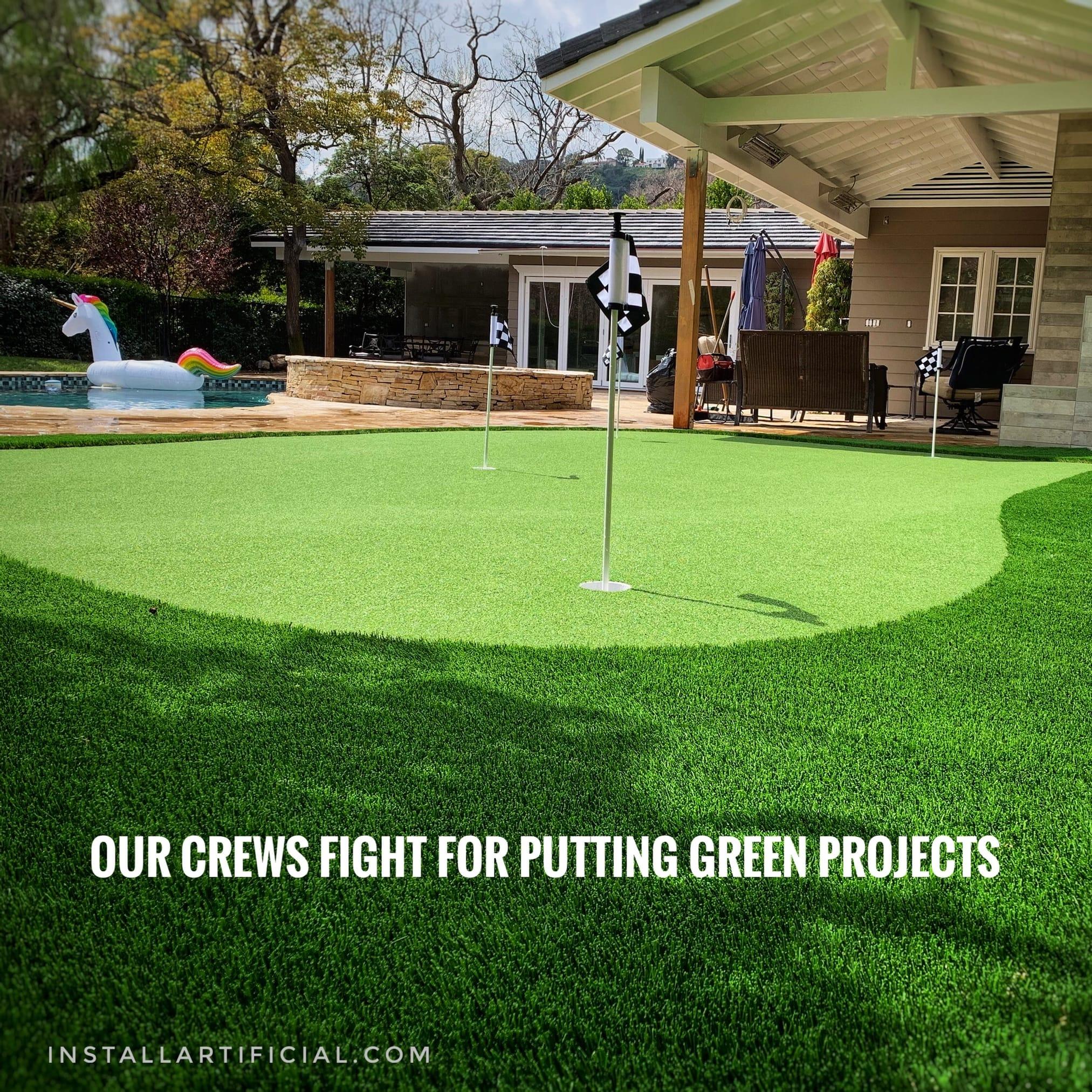 putting green samll backyard