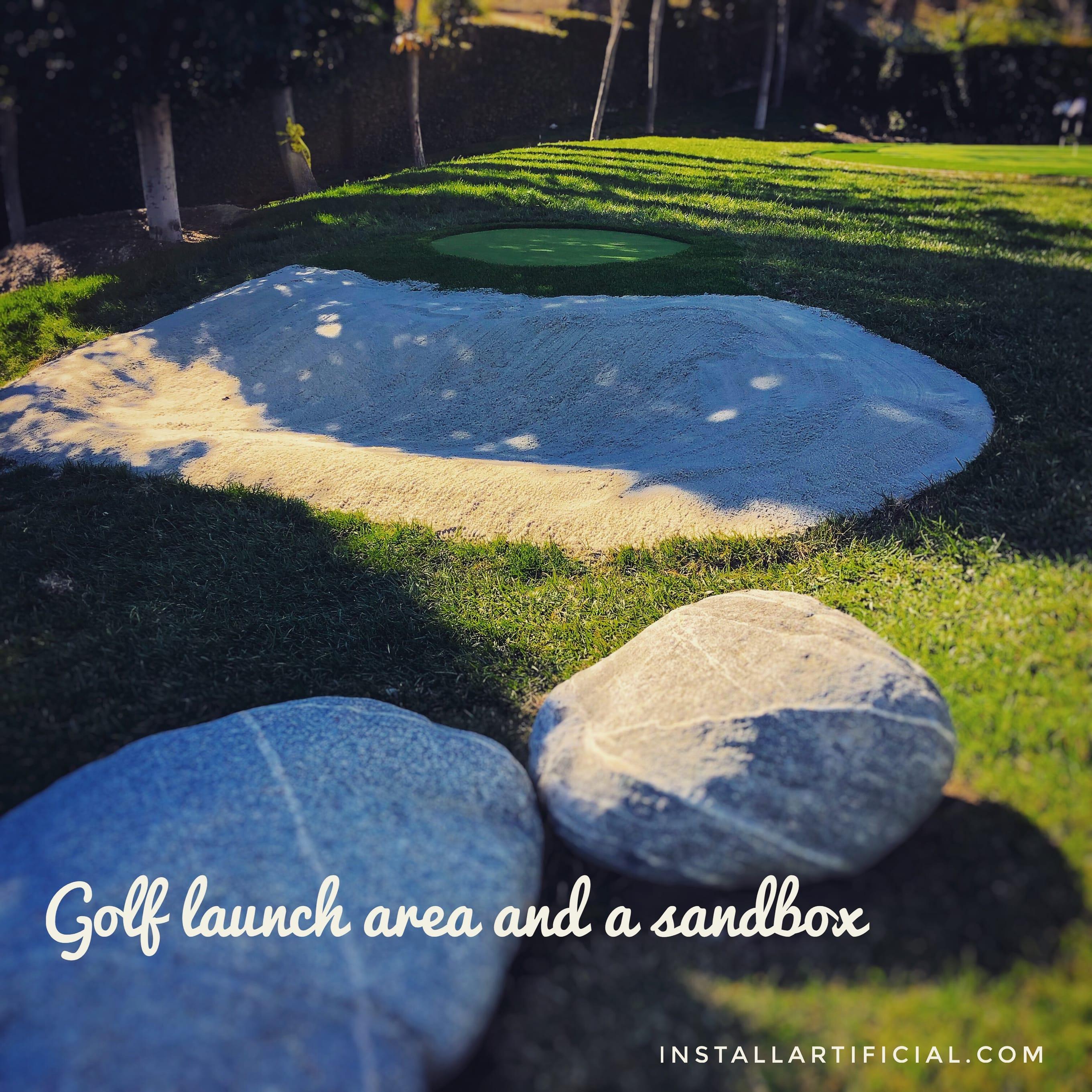 sandbox artificial grass golf