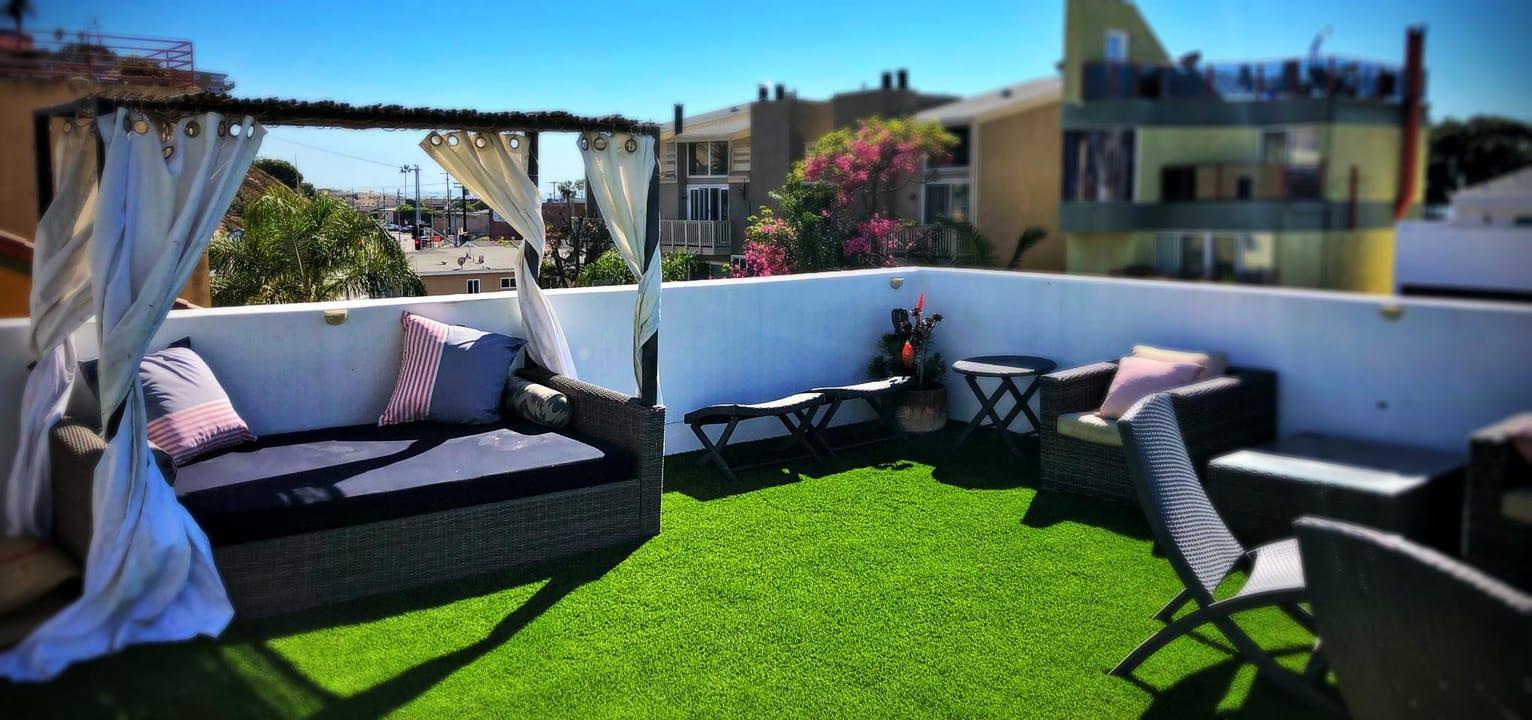Patios balconies artificial turf installation