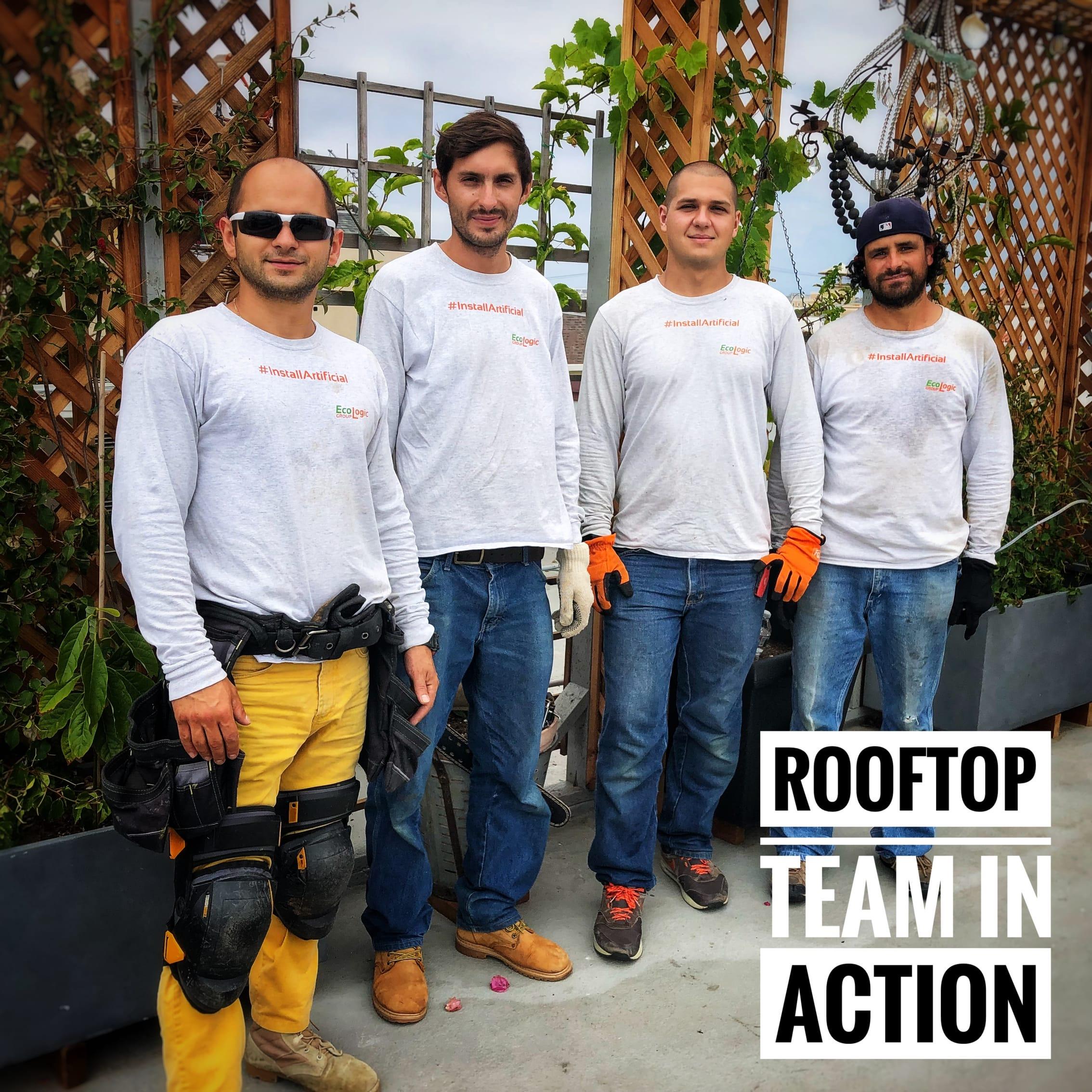 rooftop crew in action